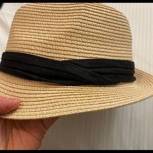 Sun Hat with Black Fabric Band.